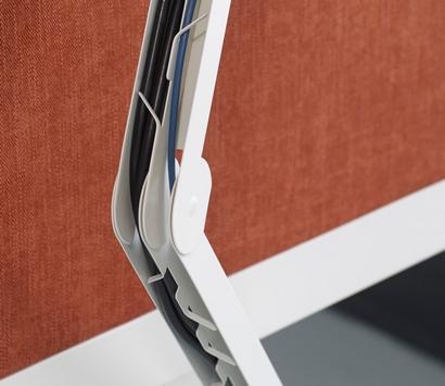 Bekabeling onder het werkblad, elektromagnetische scheiding Elbow